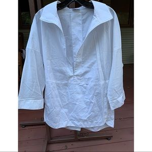 AKRIS PUNTO white 3/4 sleeve blouse
